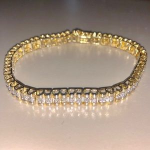 Jewelry - White Cubic Zirconia 14k Gold Over Sterling Silver